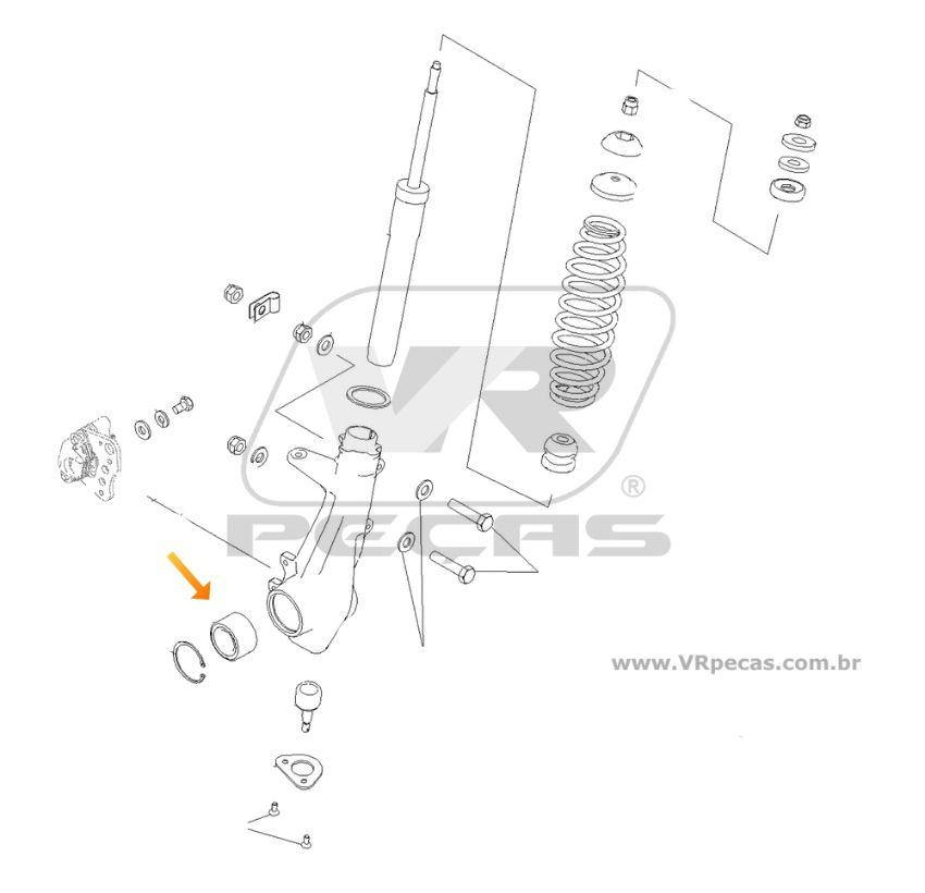 Rolamento de Roda Dianteira POLARIS Scrambler 2010-2011