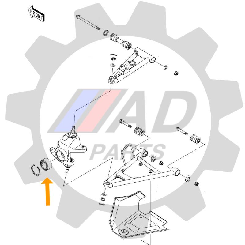 Rolamento de Roda Dianteira SUZUKI KingQuad 2007 até 2017