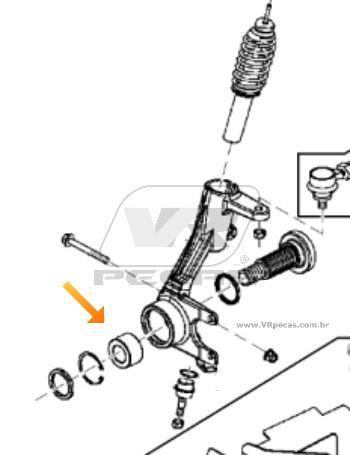 Rolamento de Roda Dianteira JOHN DEERE Gator TX 4x2