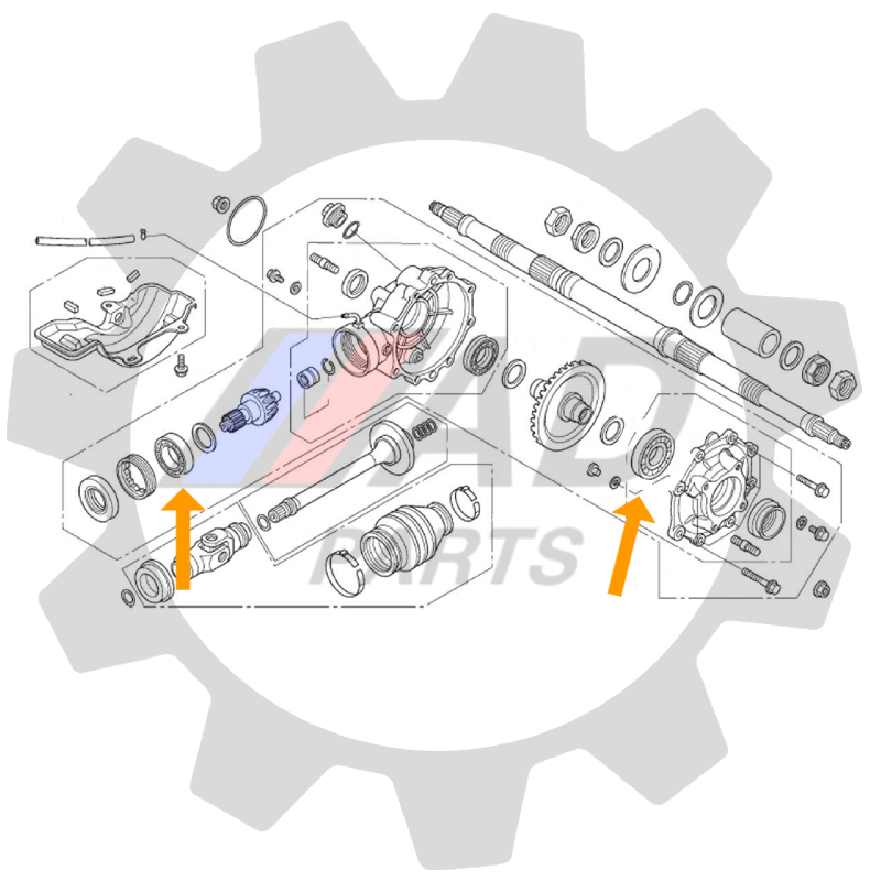 Rolamento Diferencial Traseiro Honda TRX 420 de 2014 até 2019