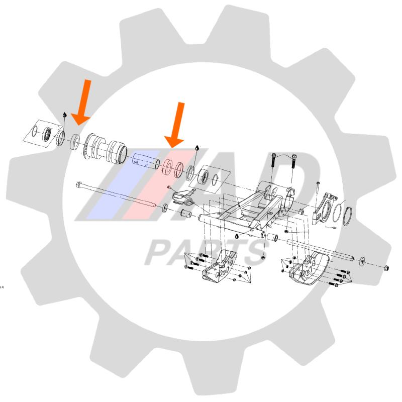 Rolamento Eixo traseiro CAN AM DS250 de 2006 até 2021
