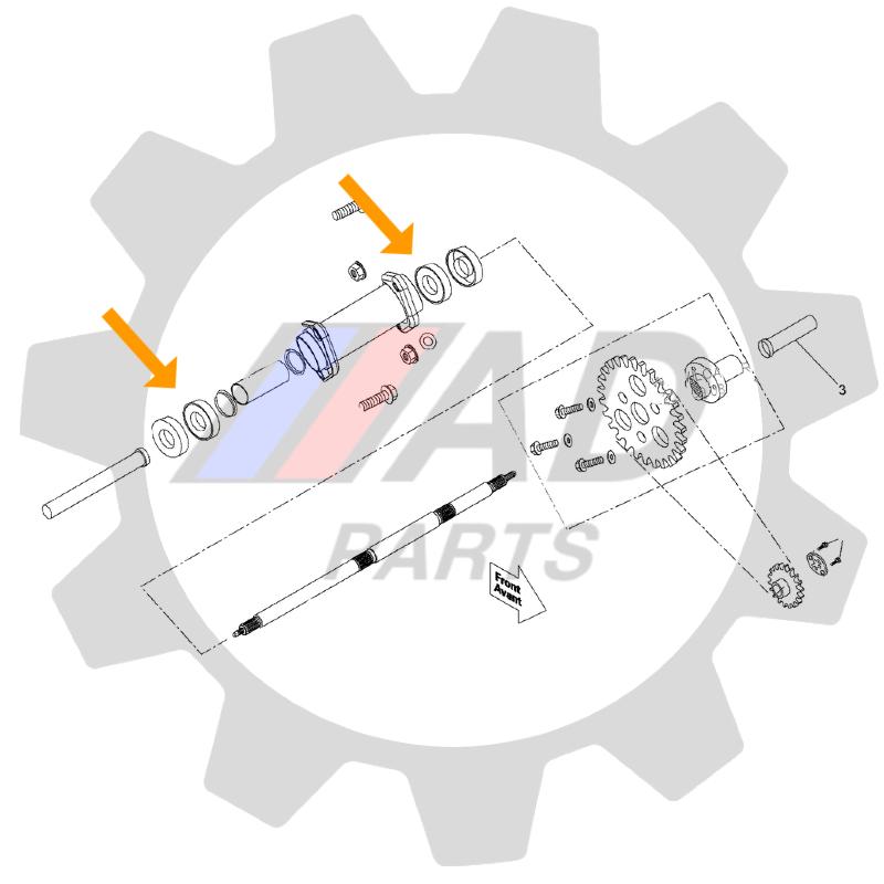 Rolamento Eixo Traseiro CAN AM DS90 de 2008 até 2021