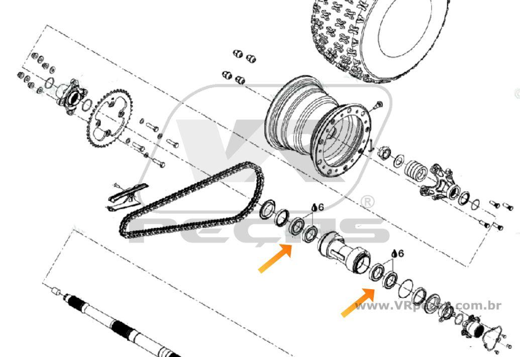 Rolamento Eixo Traseiro CAN AM DS 2008-2011