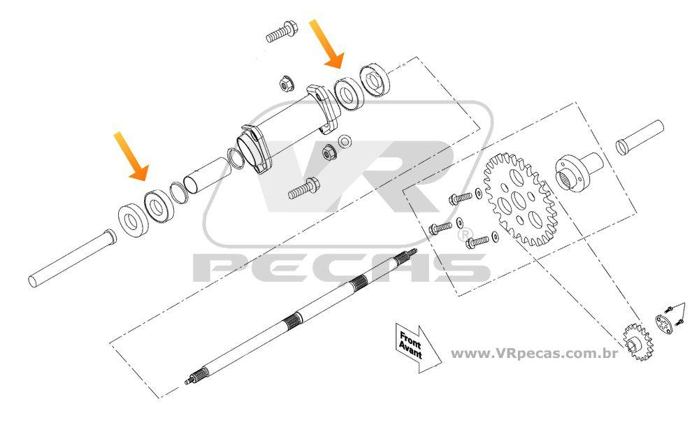 Rolamento Eixo Traseiro CAN AM DS70 e DS90 de 2008 até 2017