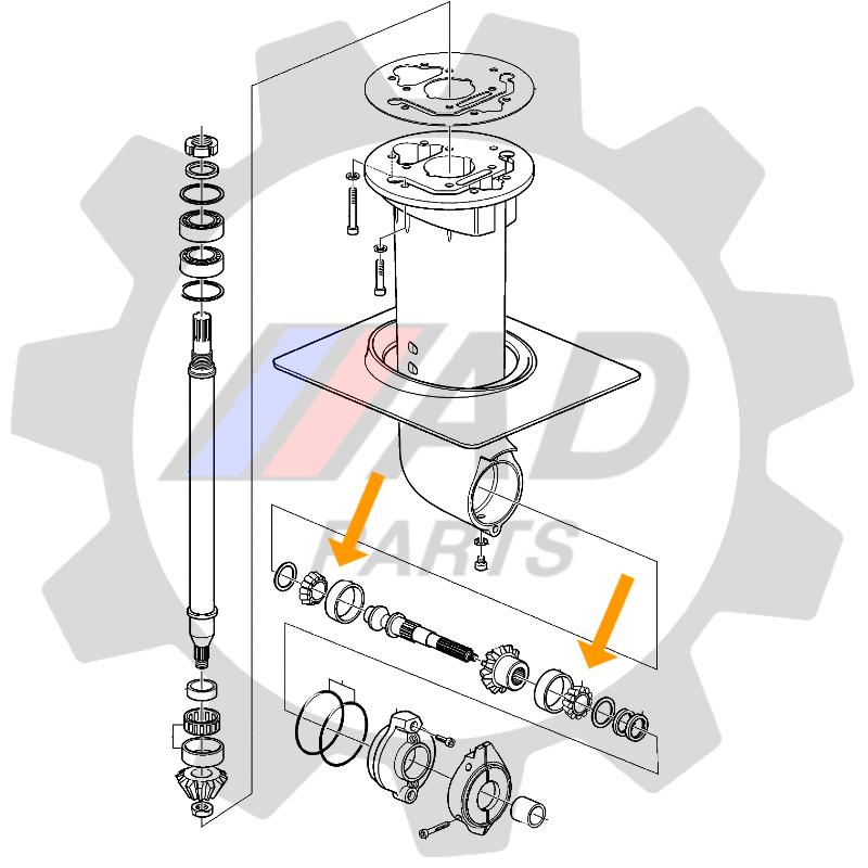 Rolamento Eixo Vertical Motor Volvo para veleiros