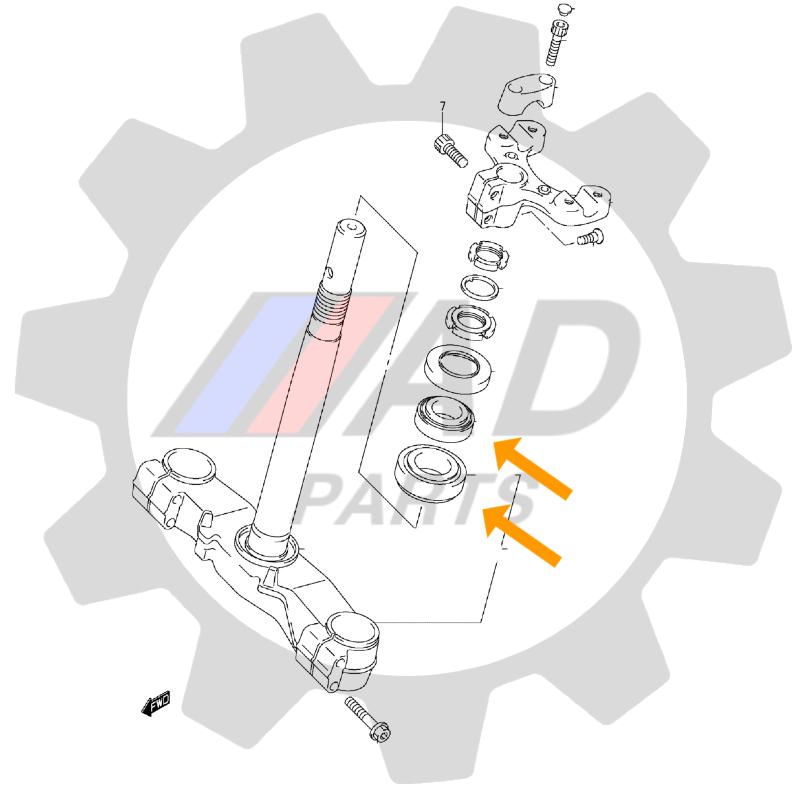 Rolamento Garfo BMW GS650 de 2007 até 2016