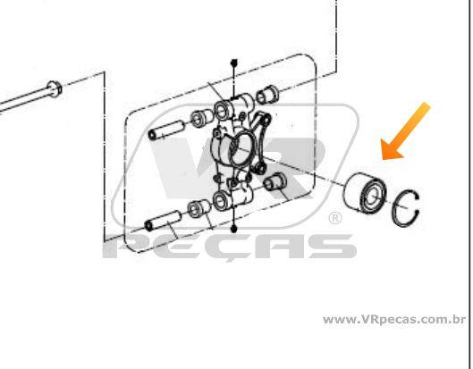 Rolamento Roda CFMoto ZForce de 2014 até 2020
