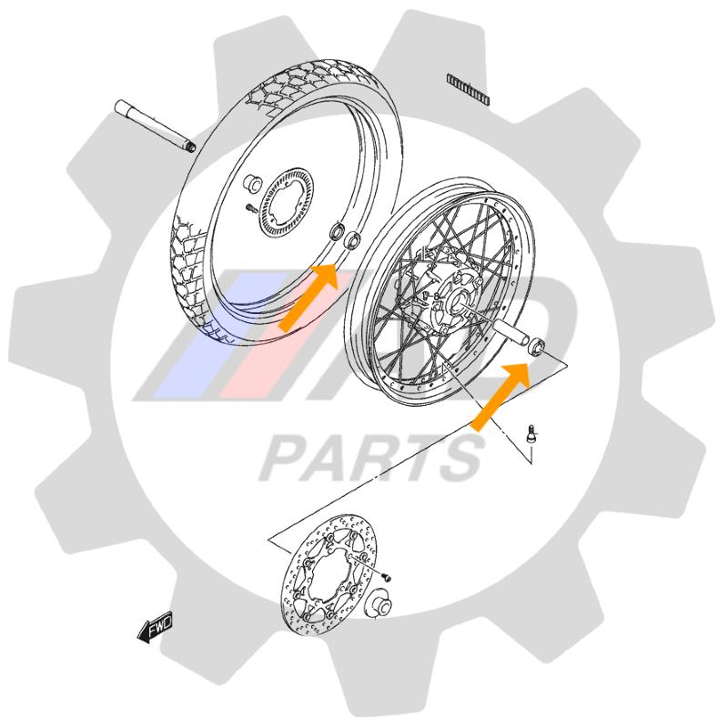 Rolamento Roda Dianteira BMW GS650 de 2007 até 2016