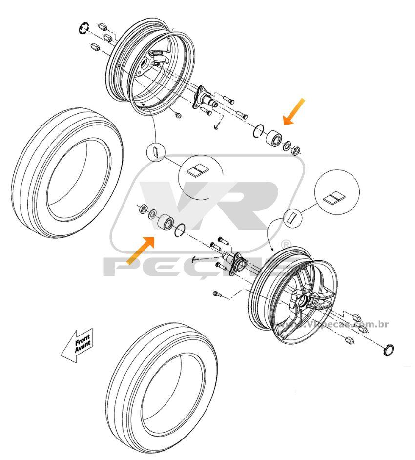 Rolamento Roda Dianteira CAN AM Spyder 2009-2016