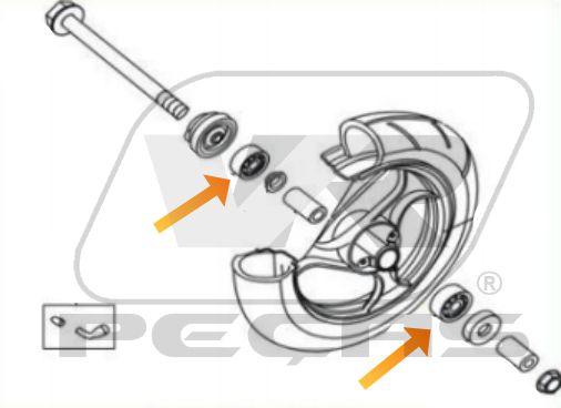 Rolamento Roda Dianteira Dafra Laser