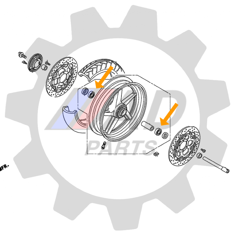 Rolamento Roda Dianteira HONDA CB1000 2011 até 2016