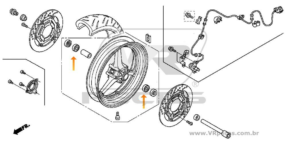 Rolamento Roda Dianteira HONDA CBR 1000RR 2004-2019