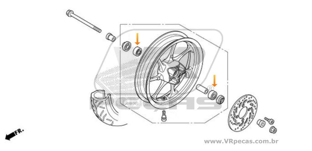 Rolamento Roda Dianteira HONDA PCX