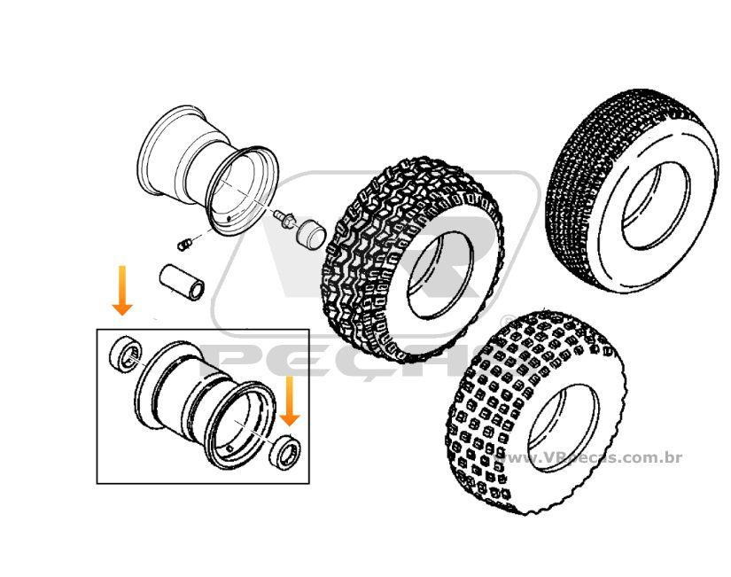 Rolamento Roda Dianteira John Deere Gator TH 6x4
