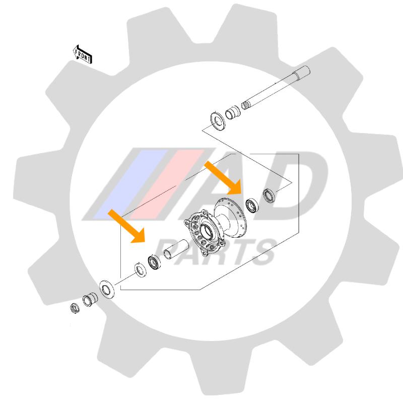 Rolamento Roda Dianteira KAWASAKI KLX110 2004 até 2020