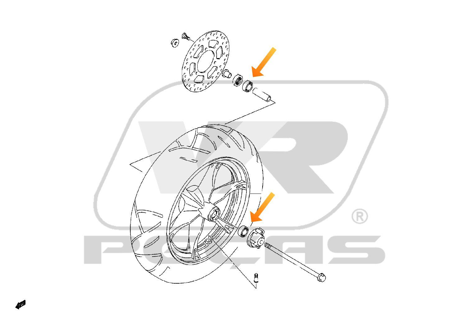 Rolamento Roda Dianteira SUZUKI Burgman 125 2006 até 2018