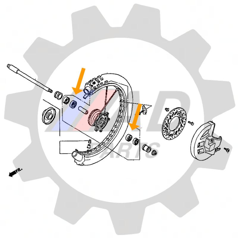 Rolamento Roda Dianteira SUZUKI GS500E 1993 até 2009