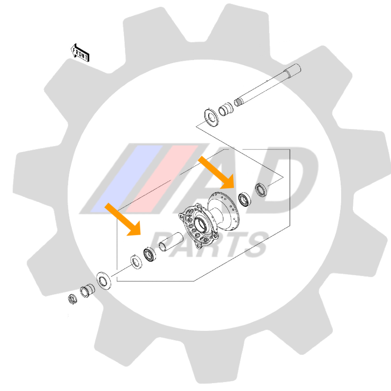Rolamento Roda Dianteira Triumph Speed Triple 2007 até 2018