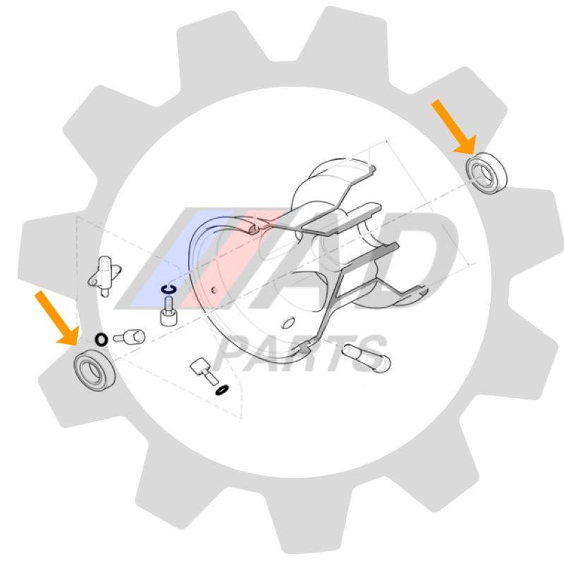 Rolamento Roda para Kart Birel Eixo 25mm