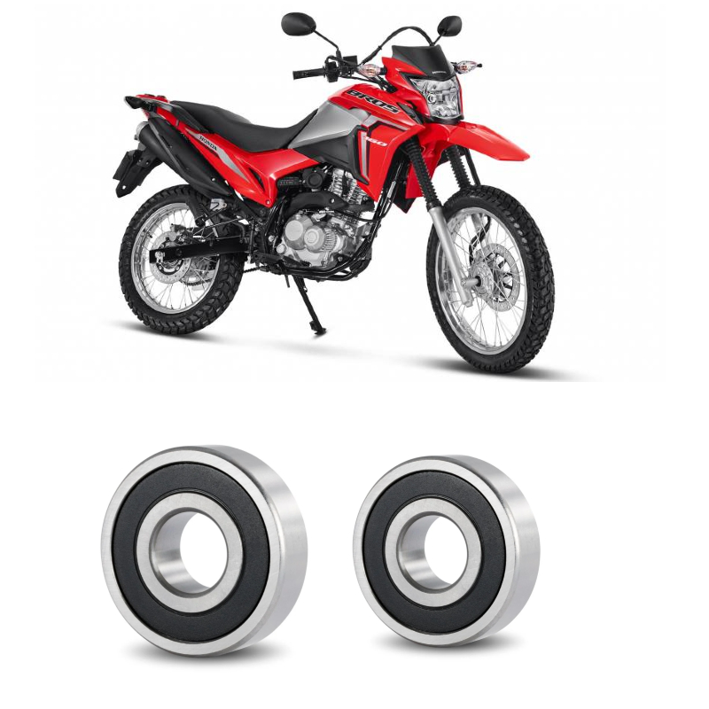 Rolamento Roda Traseira HONDA NXR 160 Bros 2015 até 2019, Tambor