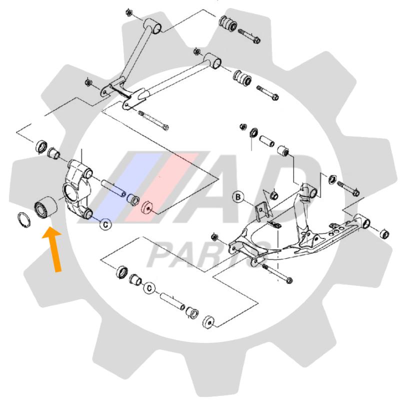 Rolamento Roda Traseira KAWASAKI Teryx de 2008 até 2015