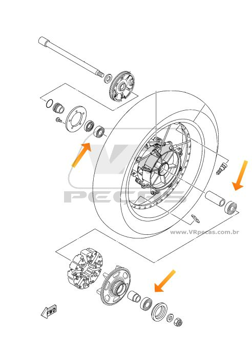 Rolamento Roda Traseira YAMAHA Super Tenere 2012-2019