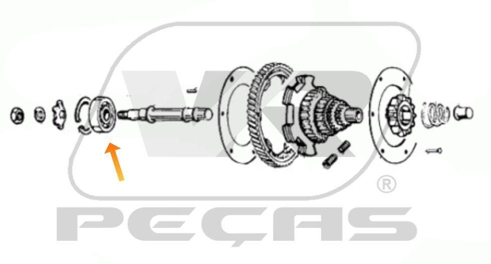 Rolamento Transmissão Piaggio-Vespa de 1978 até 2020
