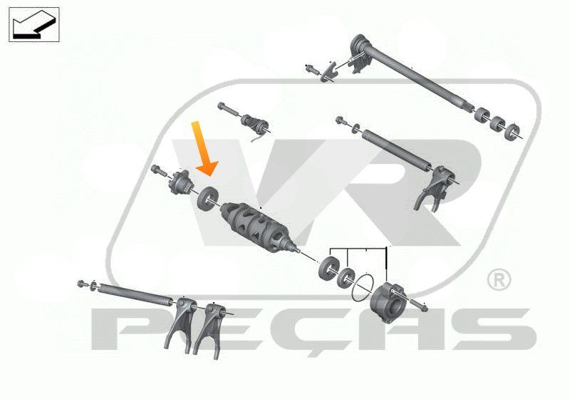 Rolamento Troca de Marchas BMW S1000R/RR/RX 2009 até 2020