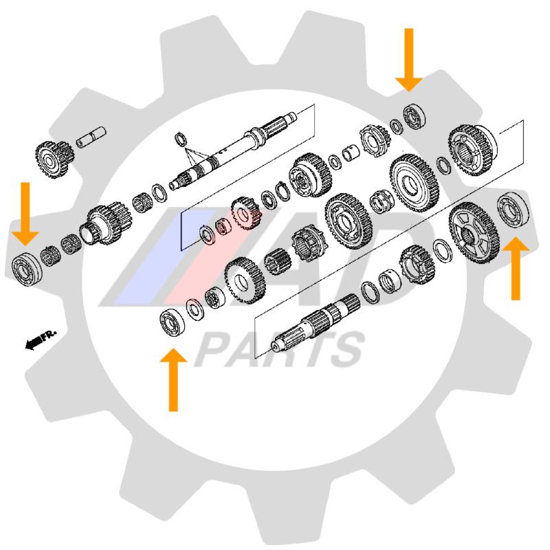 Rolamentos Transmissão HONDA TRX 2004 até 2020