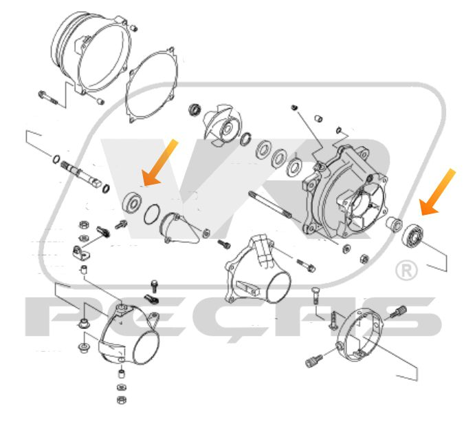 Rolamentos Turbina Jet Ski Kawasaki STX e ZXi de 1997 até 2006