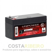 BATERIA SELADA VRLA 12V 1,3AH F187 (UP1213) RT UNIPOWER
