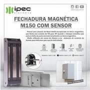 FECHADURA MAGNETICA M150 ECO COM SENSOR - BRANCA