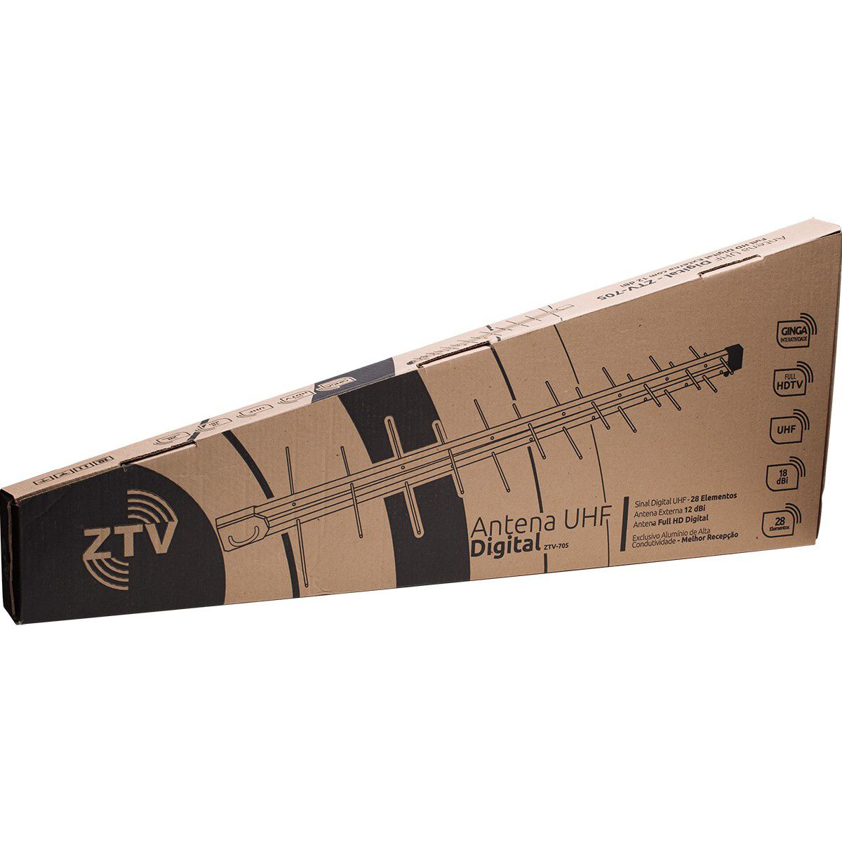 ANTENA DE TV DIGITAL - 28 ELEMENTOS - ZTV-705