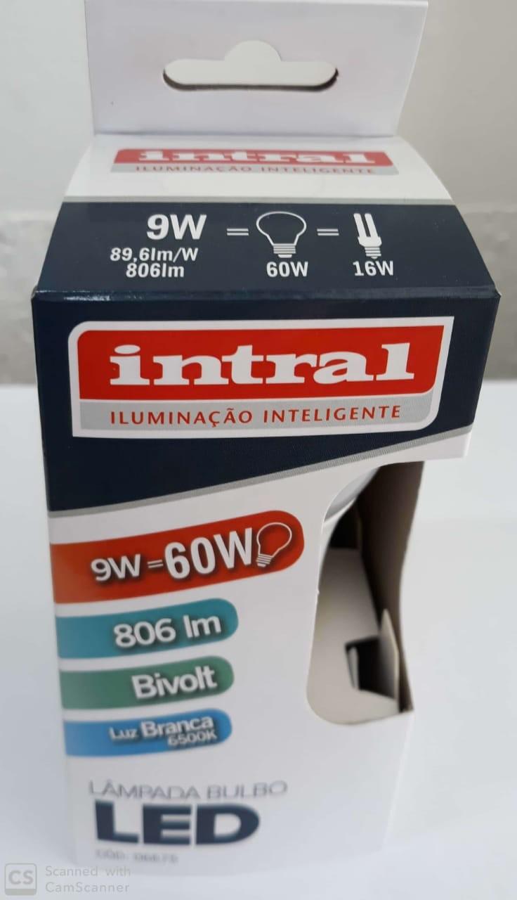 LAMPADA LED BULBO A60  9W -806lm-6500K 100-240V BRC FRIO