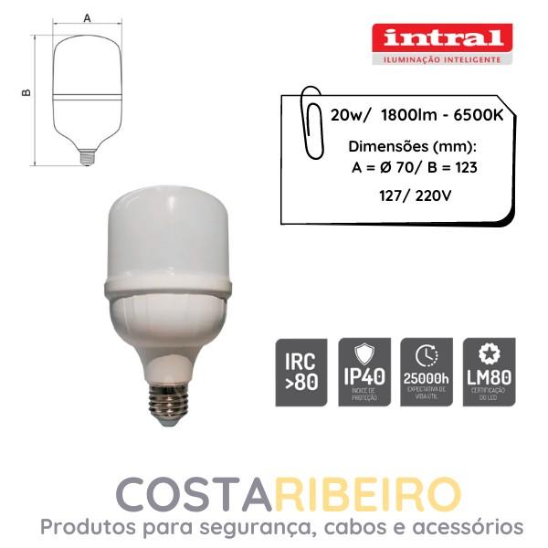 LAMPADA LED HIGH POWER 20W - 1800lm - 6500K - BRC FRIO