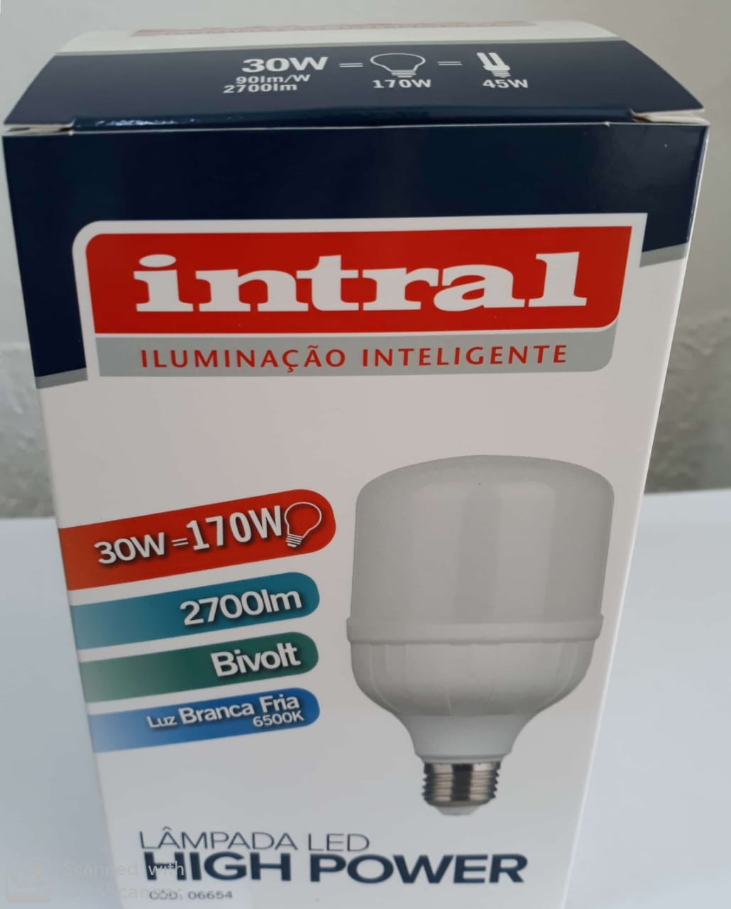 LAMPADA LED HIGH POWER 30W - 2700lm - 6500K - BRC FRIO