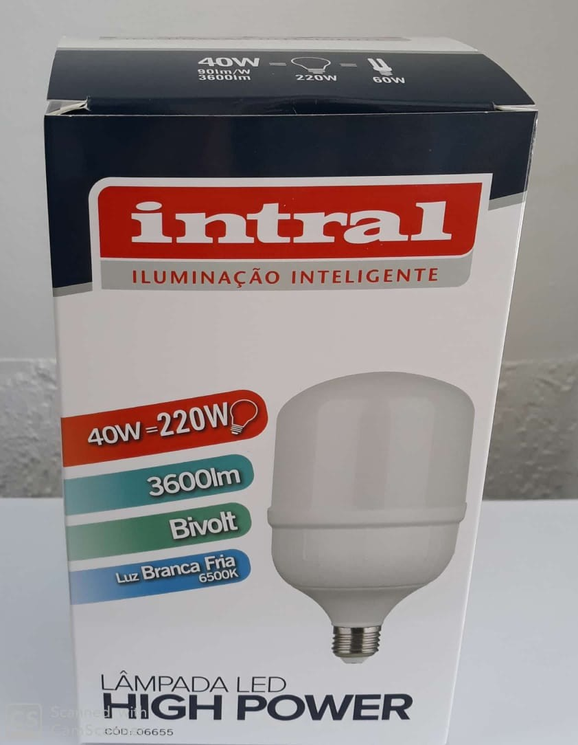 LAMPADA LED HIGH POWER 40W - 3600lm - 6500K - BRC FRIO