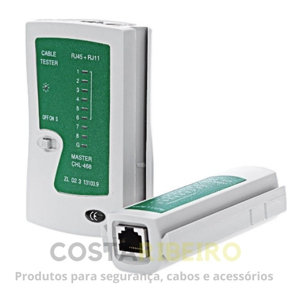 TESTADOR CABOS LAN RJ45 / RJ11