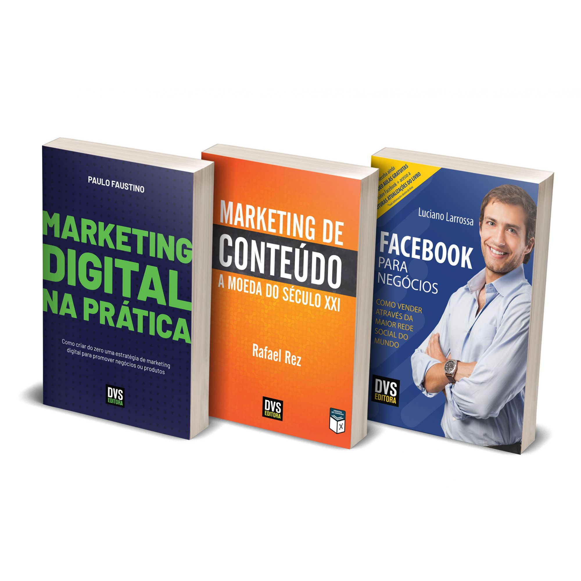Kit Marketing Digital com 3 livros