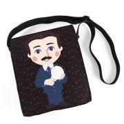 Bolsa Carteiro Nikola Tesla Chibi