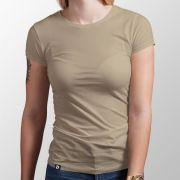 Camiseta Básica Areia - Feminino