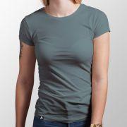 Camiseta Básica Chumbo - Feminino