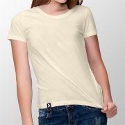 Camiseta Básica Marfim - Feminino