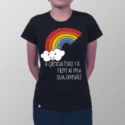 Camiseta Ciência e Opinião