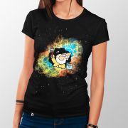 Camiseta Deus Pintando o Universo - Feminino