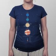 Camiseta Feminina Sistema Solar