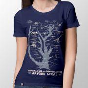 Camiseta Genealogia dos Dinossauros Geral - Feminino