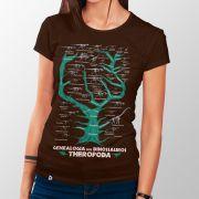 Camiseta Genealogia dos Dinossauros Theropoda - Feminino