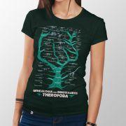 Camiseta Genealogia dos Dinossauros Theropoda