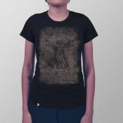 Camiseta Homem Vitruviano Preto